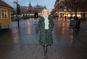 Pamela Andersson besökte sin gamla hemstad, Sundsvall, under lördagen.