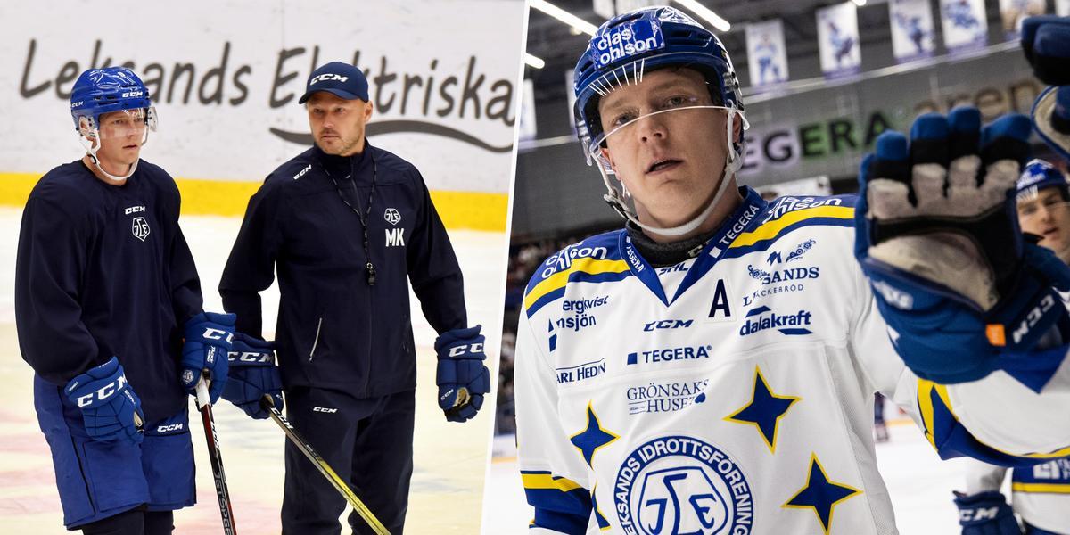 """Ny säsong och nya tag för Leksands nya kapten: """"Klart att det var tufft mentalt"""""""