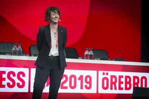 Matilda Ernkrans på Socialdemokratiska partiets kongress i Örebro tidigare i år.