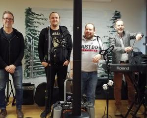 Andreas, Anton, Erik och Micke.