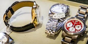 Klockorna på bilden är av andra dyrbara märken. Foto: Magnus Hjalmarson Neidema