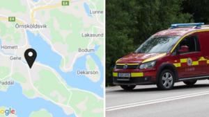 """JUST NU: Larm om brand i villa i Domsjö: """"Rök kvar i huset"""""""