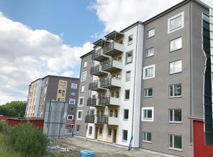 Mimers hyreshus vid Vallbyleden. Totalt har Mimer drygt 11 000 hyreslägenheter i 31 områden i Västerås.