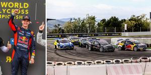 Oliver Eriksson vann årets första deltävling i rallycross-VM:s utvecklingsklass RX2. Foto RX2