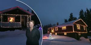 Catarina Andersson bor i  Landön tillsammans med Jean Machner. I över 20 år har det pyntat huset rejält till jul.