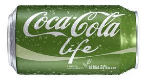 Naturlig sötning. Nya Coca-Cola life innehåller socker och stevia.