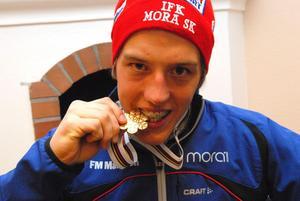 Calle Halfvarsson blev juniorvälrdsmästare i sprint 2008 i italienska Malles Venosta. Foto: Jörgen Wåger