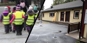 En flyttbar förskolemodul föreslås nu ersätta den mögeldrabbade förskolan Regnbågen. Foto: TT/ÖP