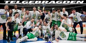 Södertälje Kings vann finalserien med 4-1 i matcher och avslutade en makalöst bra säsong på bästa sätt. Bild: Pontus Lundahl/ TT.