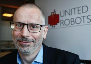 Sören Karlsson, vd på United Robots.