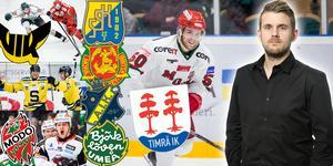 Tim Wahlgren kan vara ett fynd för Timrå. Men konkurrenterna ligger före på listan just nu, och bland andra Västerås, Södertälje och Modo fyllde på med bra nyförvärv i veckan. Foto: Bildbyrån