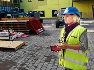 Enhetschefen Annelie Todor ska undersöka händelsen. Fotot är taget 2017,  i slutfasen av bygget. (Arkivbild)