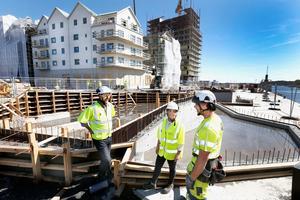 De första betongklipporna i Norrtälje Hamn göts förra året. Snart är det dags att gjuta fler längre ut längs kajen.
