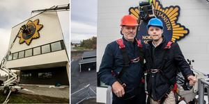 Christer Bergh, ställföreträdande räddningschef, och Bino Drummond (M), kommunalråd.