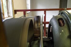 Vade kraftverk är full av kulturhistoria från den välvda stenkanalen till generatorn med Aseas svastika Aseas svastika
