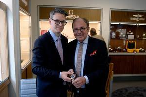 Tony Frank och Kent Nordberg. vd för Kent Watch & Jewellery.