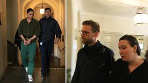 Mohammed Rajabi och Johanna Möller på väg in till dagens hovrättsförhandling.