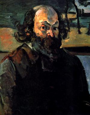 Självporträtt av Paul Cézanne från 1875.