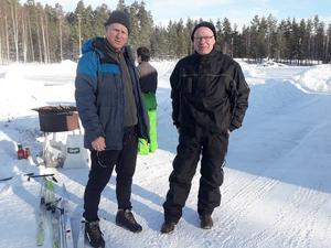 Lärarna Magnus Augustsson och Mikael Sund.