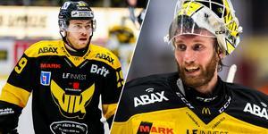 Jesper Cederberg och Marcus Dahlbom är två fjolårshjältar som fått lämna VIK, trots att de haft kontrakt över nästa säsong. Foto: Oliver Åbonde &  Magnus Lejhall / BILDBYRÅN