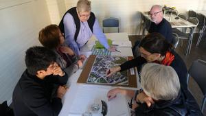 Pettersbergsbor märkte ut otrygga platser i stadsdelen och var de ville ha nya konstverk. Foto: Mikael Richter