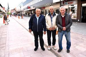 Initiativtagarna bakom Wasasten: Rolf Eriksson och John Persson, Skanska, och Arne Pettersson, då kommunchef för Älvdalen.