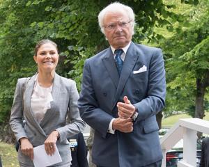 Kungen och/eller kronprinsessan Victoria väntas delta i årets upplaga av Folk och Försvar i Sälen. Foto: Henrik Montgomery / TT.