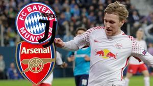 Emil Forsberg uppges kunna lämna Leipzig efter en konflikt med tränaren.