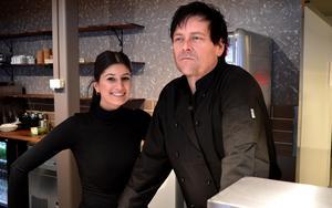 Delägare Irem Günes och restaurangchef Mathias Ahrnesson.