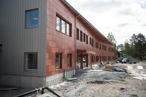 Under byggnationerna av Anundsjöskolan.