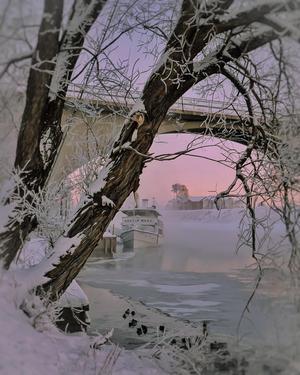 Gustaf Wasa i vacker vinterskrud! Denna eftermiddag var det -19 i Leksand.