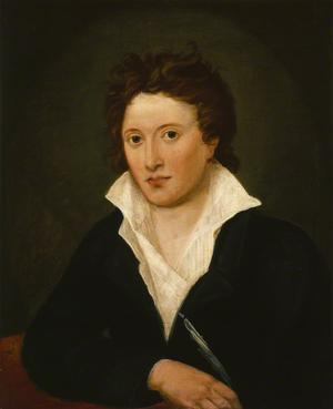 Percy Bysshe Shelley. Målning av Amelia Curran från 1819.