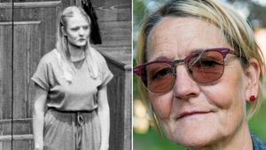 Vänster: 1980. Lycko-Lisa. Ann Petrén, som är född i Västerås. Bild: Göran WiderbergHöger: Ann Petrén år 2014. Bild: Lars Pehrson/TT