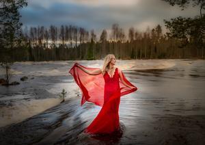 Höstflod i Fänforsen. Bästa månadsbild 2020. Foto: Anders Pärsings