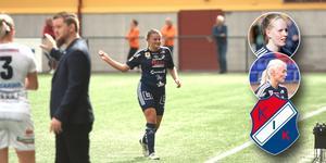 Alice Eriksson är avstängd i matchen mot AIK. Nu funderar Fredrik Bengtsson på om Bea Gärds eller Alva Lundin (infällda bilder) ska gå in på hennes position.