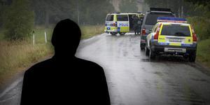 """Fotomontage: Mikael Hellsten/arkivbild. Larmsamtalet efter misstänkta mordet Rättvik: """"Jag sköt honom, skicka iväg en kula mot bröstet"""""""