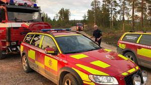Nu är skogsbranden på Trängslets skjutfält i Älvdalen under kontroll.Foto: Mora brandkår