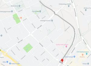 Bild: Google Maps. Den annorlunda sträckan i mopedkortegen.