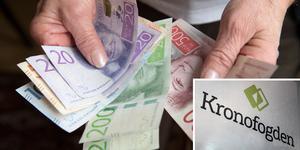 Under 2019 var det i Dalarna 8 630 personer som var skuldsatta till ett totalbelopp på 1 527 351 189 kronor.  Bilden är ett montage.