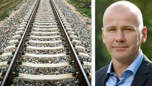 Satsningen ska ge bättre transporter på järnväg mellan Sundsvalls hamn och industrierna vid kusten, enligt Jörgen Eriksson på Peab.