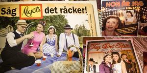 Några av nostalgishowerna Solveig skrivit och uppträtt med landet runt.