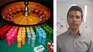 Omid Rezvani var själv spelmissbrukare, bland annat på nätkasinon. Nu är han ordförande för Spelberoende och anhörigas stödorganisation i Sverige.
