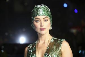 Skådespelaren Amber Heard på premiären av filmen