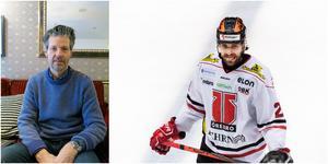 Gävlekillen Ludvig Rensfeldt har spelat mot Brynäs många gånger i det som förr hette Gavlerinken – men nu var första gången sedan hans pappa Ola Berggren gick bort i november i år. Foto: Bildbyrån
