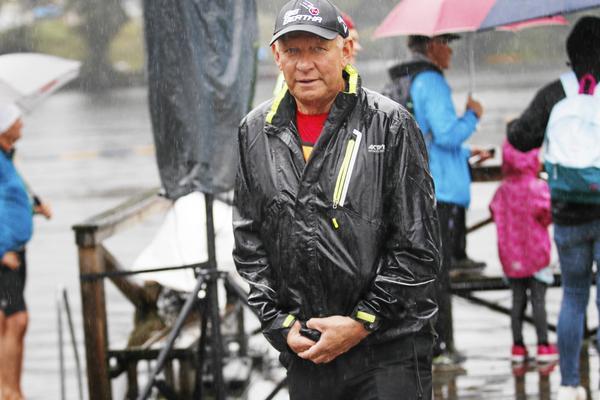 Åke Lantz under förra årets Silverman, som fick en del regn.