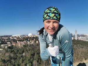 Irina Nyberg tränar på som hon gjort under vinterhalvåret.
