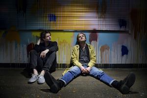 Indiebandet Hästpojken (Adam Bolméus, tv, och Martin Elisson). Foto: Jessica Gow