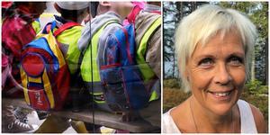"""Paviljongerna vid Tallbacken kan bli kvar i tre år. """"Vi garderar oss så att vi inte ska stå utan platser till våra barn"""", säger Susanne Englund."""
