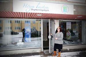 Susanne Lodin ä'r en av de som ska arbeta på Höga kusten begravningsbyrå i Kramfors.