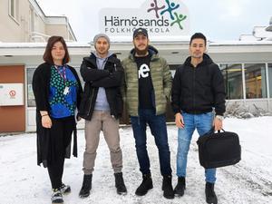 Johanna, Nyström, Ahmed Jamal, Ali Almayed och Rohulla Jafari  vet att varje krona de får in gör nytta.